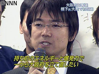 橋下徹/2008/大阪府知事初当選時