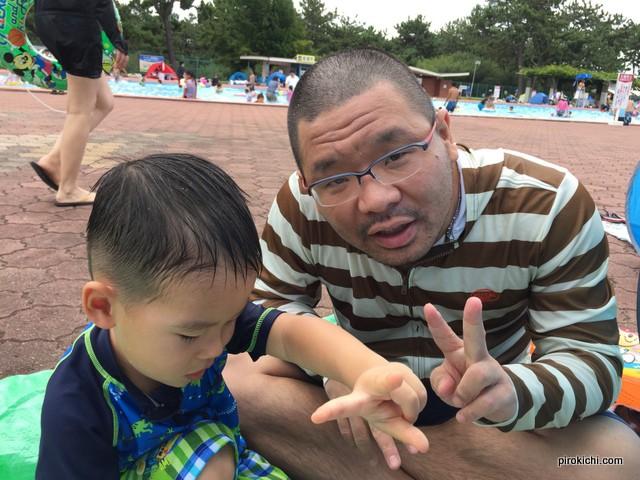 2015年は早速行ったよ、浜寺公園プール!